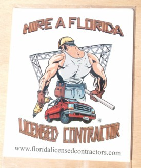 Hire a Florida Licensed Contractor Square Sticker - 4